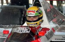Ayrton Senna McLaren MP4/4 Honda F1.1989 Brazil GP. Photo.